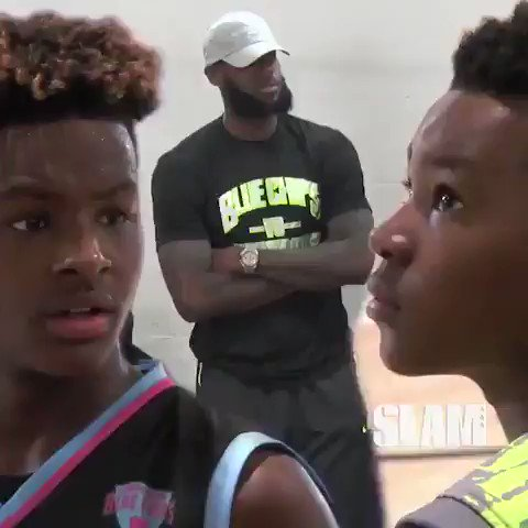 LeBron watched his sons ball out on Saturday. (via @SLAM_HS) https://t.co/EGXe69BTTv