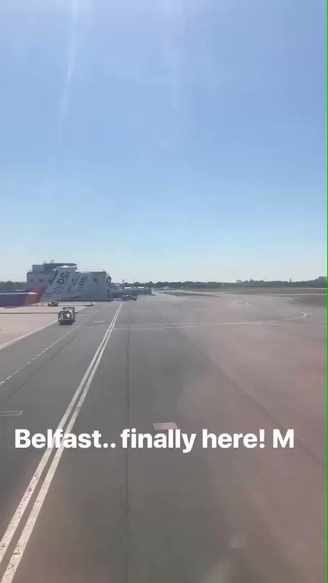 Arrived in Belfast for @belsonicbelfast tonight ���� M https://t.co/mfyUzJdct2