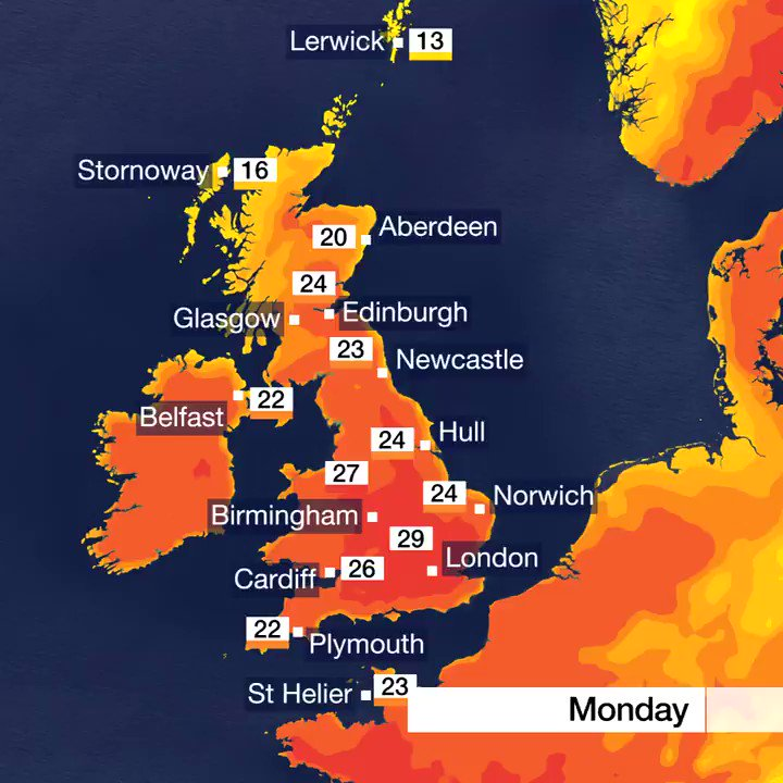 BBC Weather's photo on #heatwave