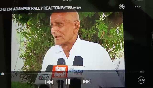 A fitting reply to the CM's false claims in Adampur. @mlkhattar आपको आदमपुर के हमारे परिवार के एक बुज़ुर्ग सदस्य का जवाब...