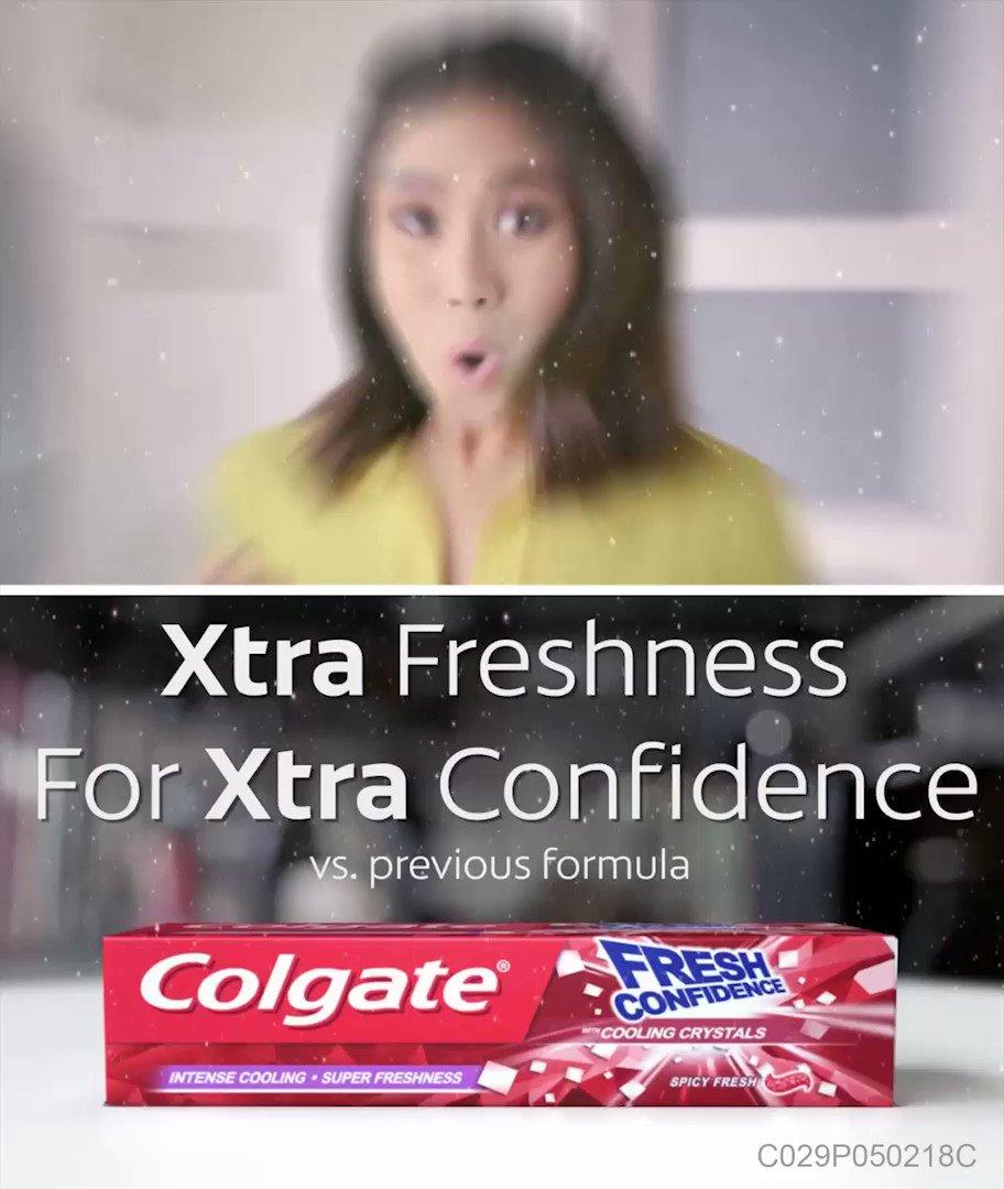 Woooohhh!!! Yan ang feeling ng FRESHNESS sa NEW Colgate Fresh Confidence!!! 🙌Iba siya dahil sa intense cooling at super freshness experience nito! 😲 #TasteConfidence na! 😄  Click here: http://bit.ly/ColgateFreshConfidenceToothpaste2…