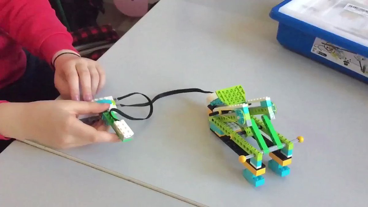 What do you think of our Lego WeDo catapult?! #DLFirl #makerspace