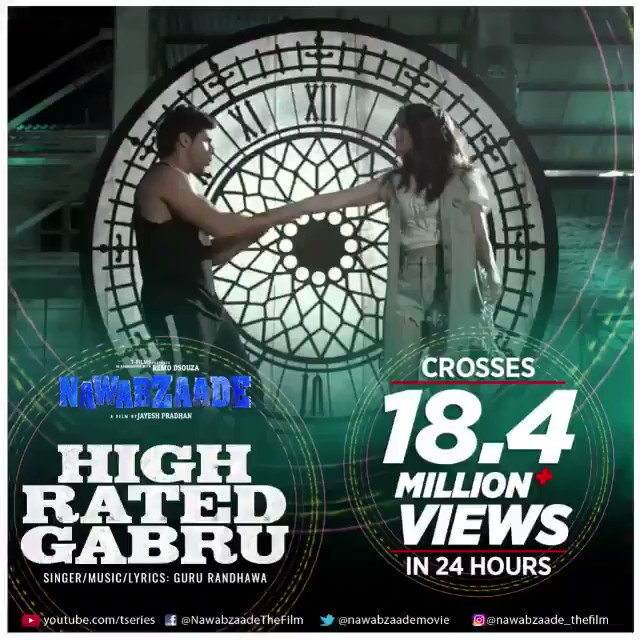 And the most viewed video in 24 hours is... #HighRatedGabru 💥 --> https://t.co/hUTidi34J6 @Varun_dvn