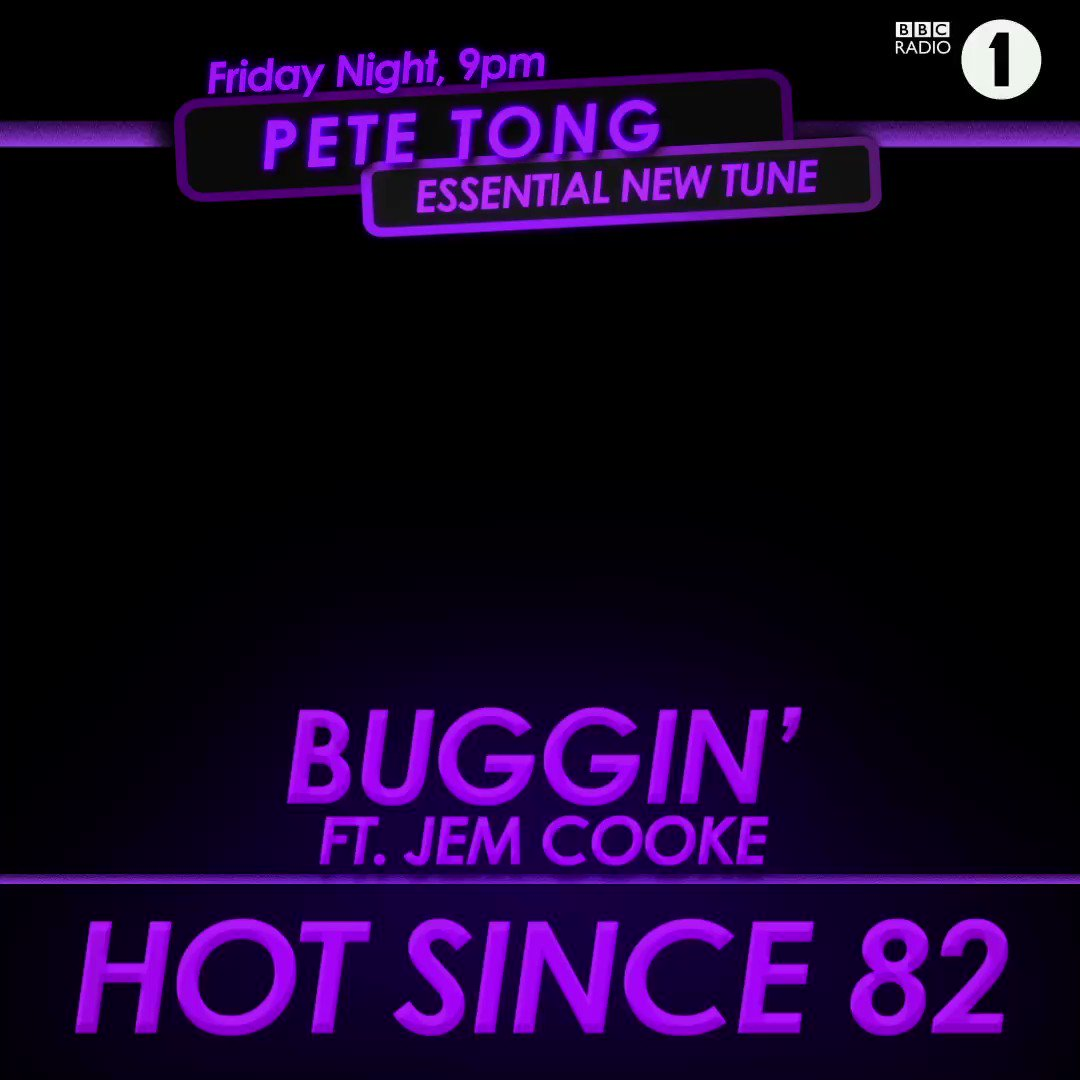 Yes Tongy! My new track Buggin' is the #EssentialNewTune!  Get it here: lnk.to/HS82Buggin @petetong