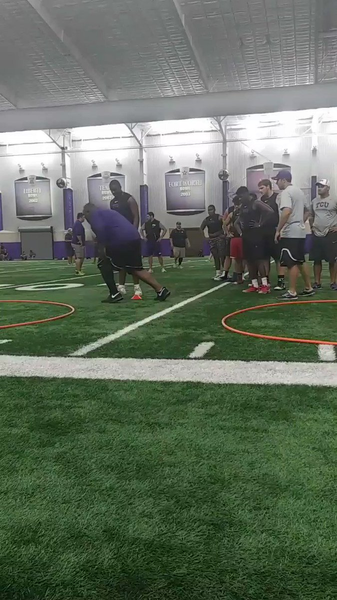 #thetruth grinding it @TCU OL/DL camp with @CoachZTCU Awesome camp!