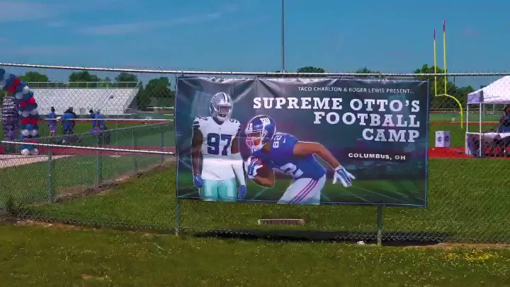 First Annual Supreme Otto's Football Camp Presented by @TheSupremeTaco @OttoLewis_ 🏈🎥.