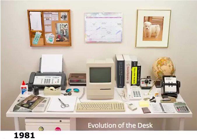 Evolution of the desk: https://t.co/K7nwyxyoa7
