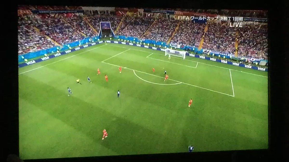 日本追加点 いぬいーーーー!!! 日本2-0ベルギー