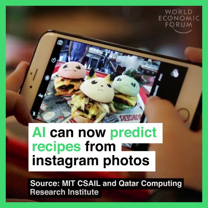 Image for the Tweet beginning: #AI predicts recipes from