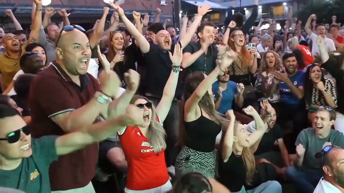 Watch the exact moment the whole UK erupts in World Cup jubilation at England's win