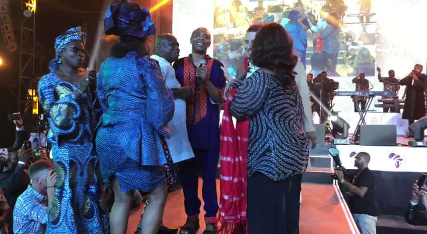 Macron loosens up trip to Nigeria with visit to legendary Lagos nightclub