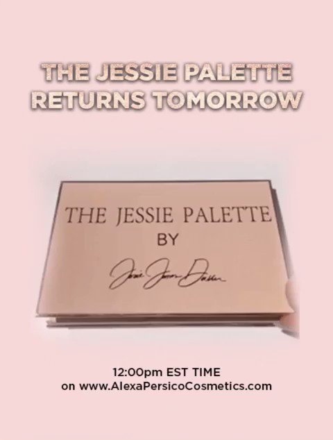 🎉TOMORROW Get your JJD Vibes on!💋 The @JessieJDecker Palette is BACK! 🎉🎉 #thejessiepalette
