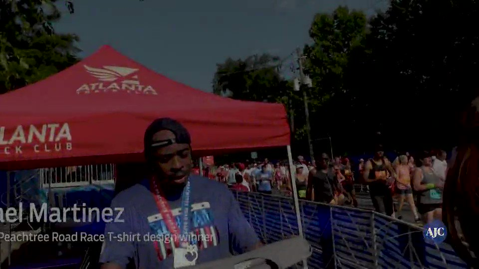 ajcprr: this is the winning 2018 ajc peachtree road race t