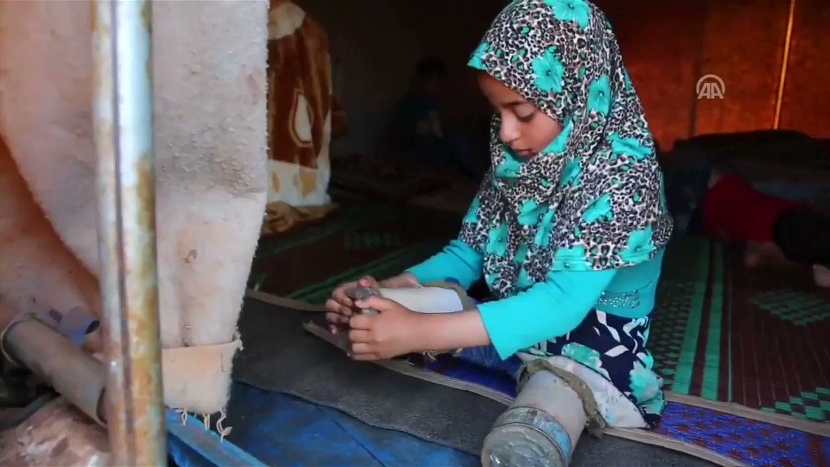 Yesterday in Istanbul a disabled Syrian girl swapped out her tin can legs for prosthetics. Fleeing Syria's civil war Maya, from Aleppo, has been living in a camp in Idlib.  What a brave and beautiful little girl - her life now transformed by a doctors act of kindness. @Reuters