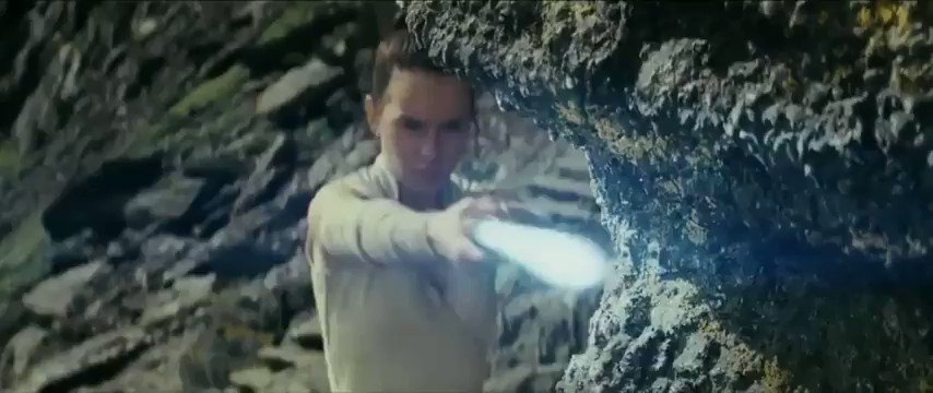 In 'The Last Jedi' (2017), Rey's practice on the cliff foreshadows Kylo Ren's fight with Luke Skywalker