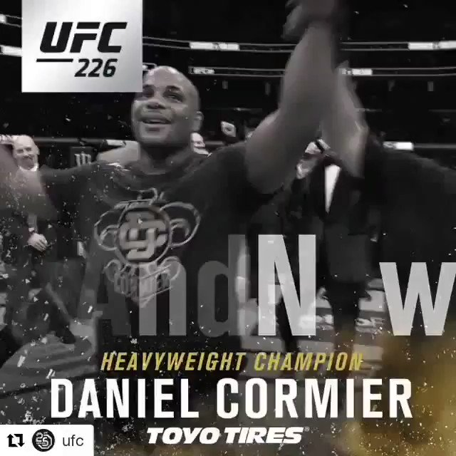 Unbelievably happy for the champ champ @dc_mma and the entire team. History has been made by a clean athlete just shy of his 40th bday, and he didnt even have to shoot #GOAT @akajav @CrazyBobCook @LeandroVBTEAM @cainmma @LukeRockhold @rosendo_sanchez @ufc @UFCIndia @UFC_CA