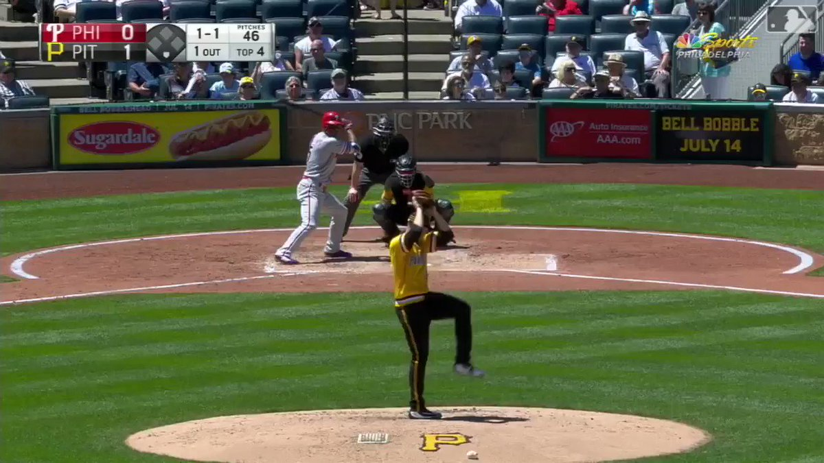 That one got outta here in a hurry.  4-1, Pirates lead in the 5th. | #BeBold https://t.co/NbLsc7JtOw