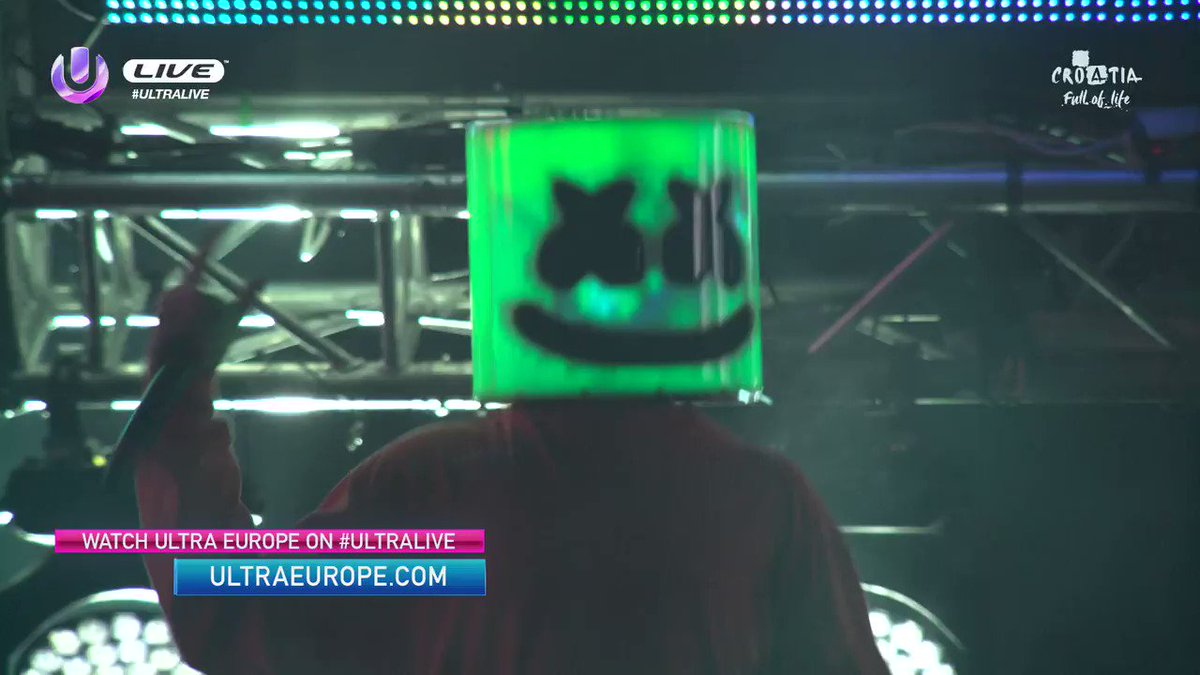 The mysterious, masked @marshmellomusic is making his Ultra Europe debut now on #ULTRALIVE!  http://UltraEurope.com
