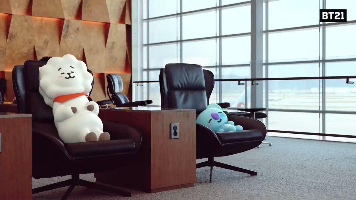 あと10分だけ・・・ #寝てたい #KOYA #RJ #フライト大丈夫? #Find #BT21 at #IncheonAirport