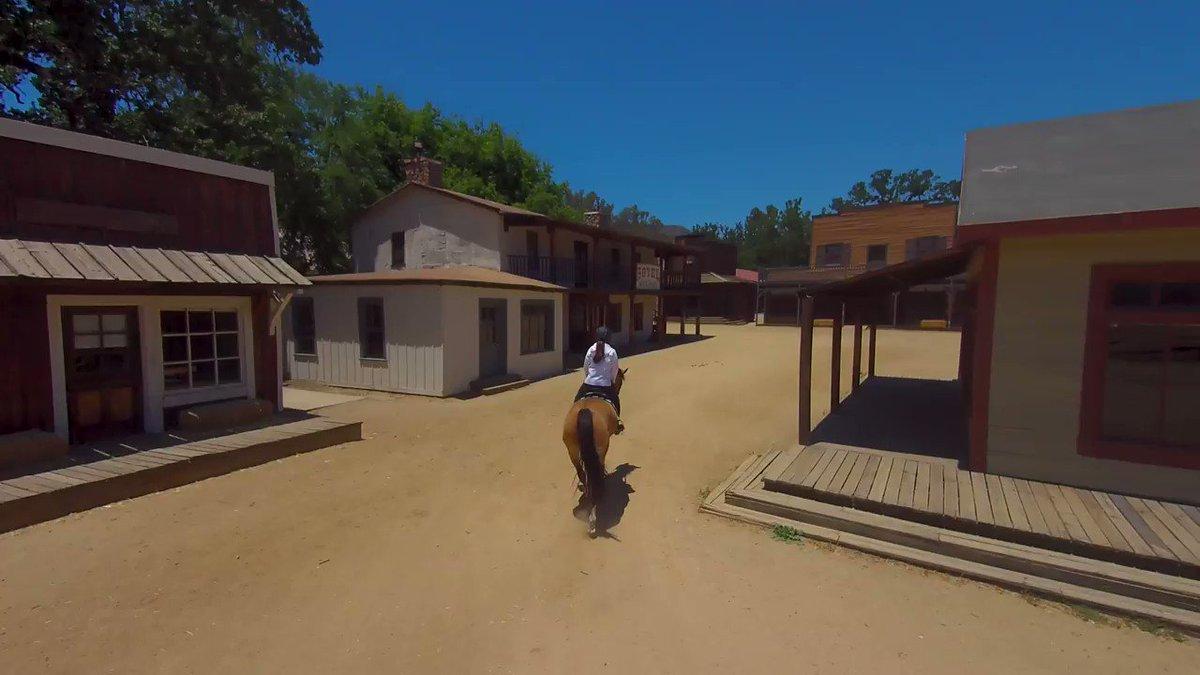 Image for the Tweet beginning: Exploring the set of @WestworldHBO