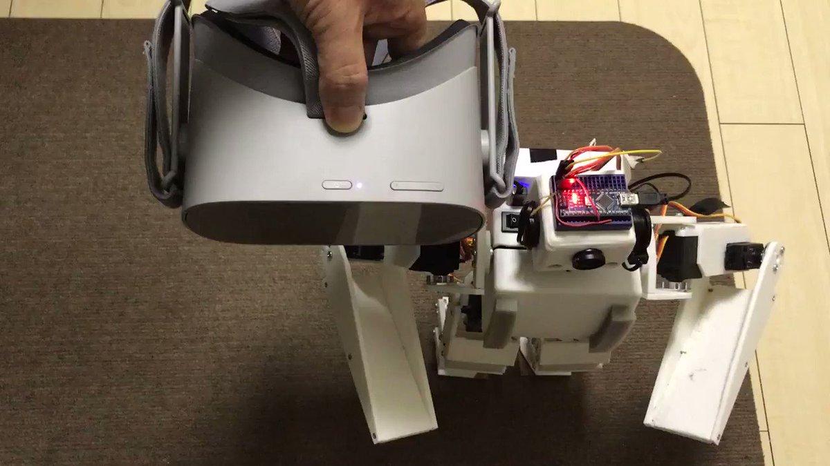 OculusGoでロボットが動かせるようになったことをご報告いたします
