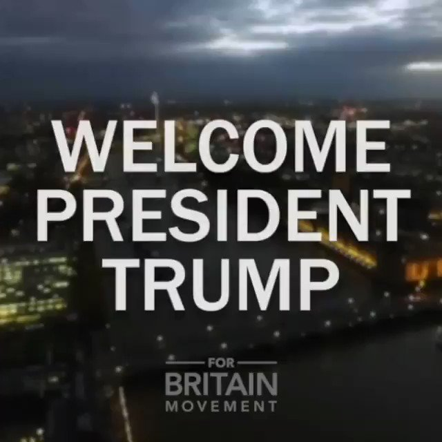For Britain leader Anne Marie Waters has a welcome message for President Donald Trump 🇺🇸 @realDonaldTrump 🇬🇧 #ForBritain #TrumpUKVisit