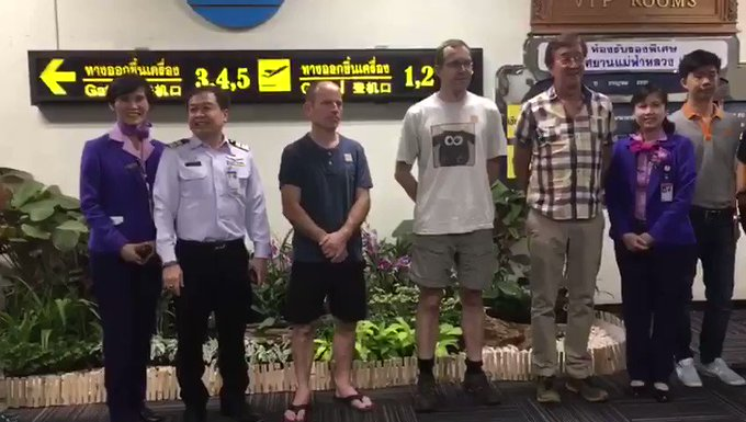 British Cave Heroes Leave Emotional Message for Rescued Thai Boys