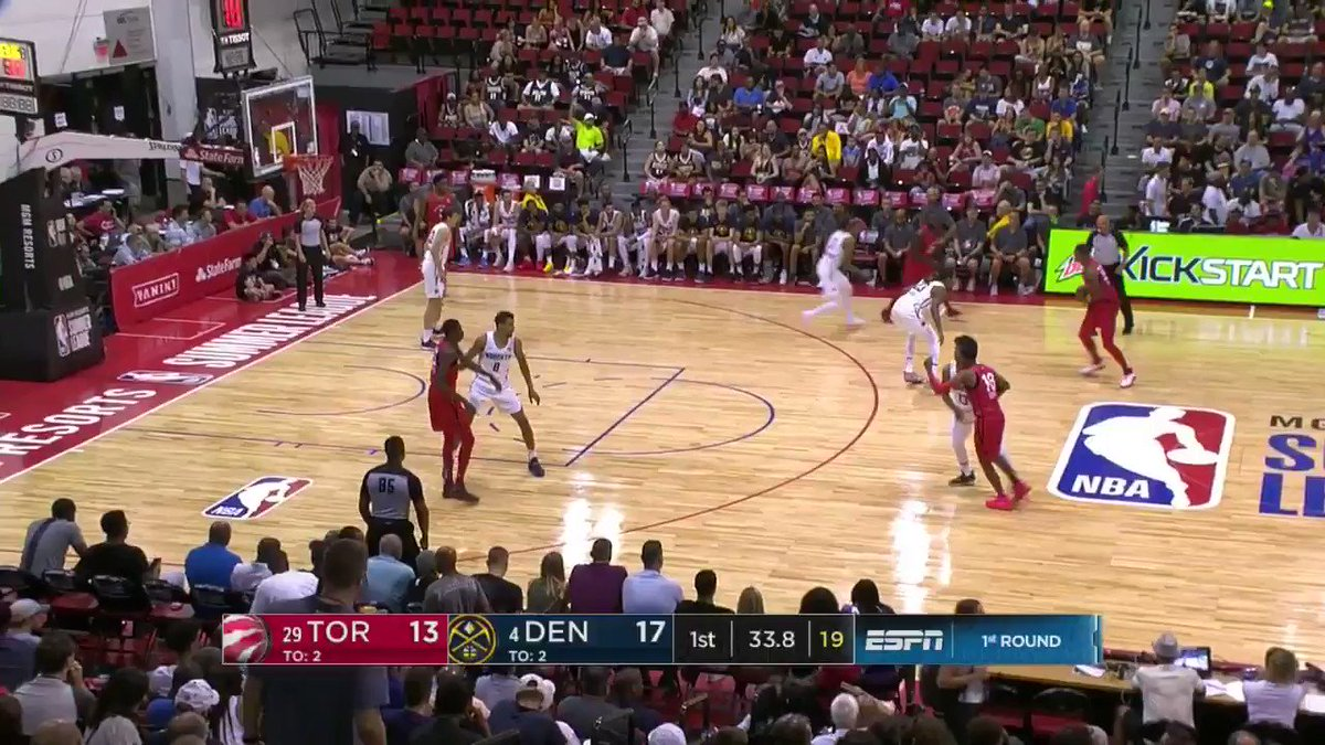 Giddy Potts has it going early from long range for the @Raptors!  #NBASummer https://t.co/rimsnAfTKo