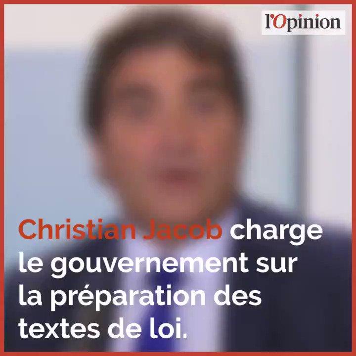 Christian Jacob charge le gouvernement sur la préparation des textes de loi.  - FestivalFocus