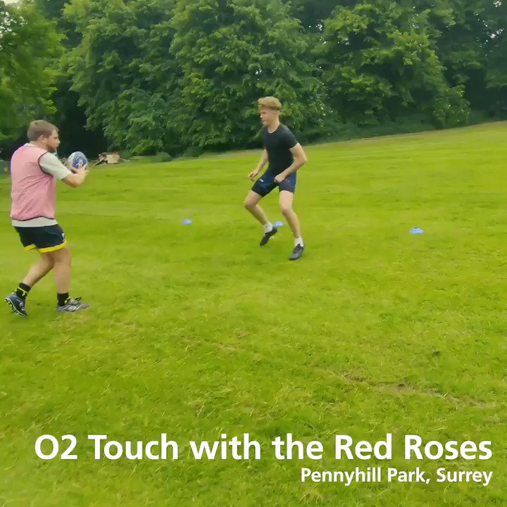 Whats it like to train with the #RedRoses? 🌹 We sent a lucky group of @o2touch players to @PennyhillPark this week to find out ⚡ Get fit and keep your rugby skills up this summer at your local #O2Touch centre: bit.ly/2NLJKks