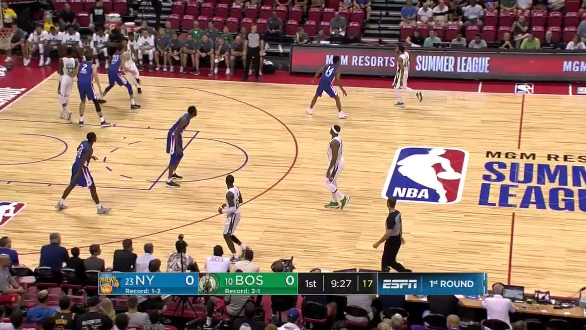 Semi starts the action for the @celtics with the trey!  #NBASummer on ESPN2 https://t.co/wjYiJX6Y8D