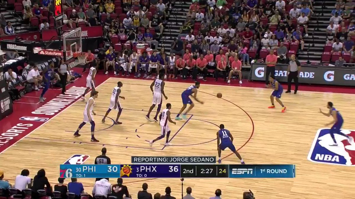 �� @sixers passing!  #NBASummer on ESPN2 https://t.co/yGP6qNKr9K