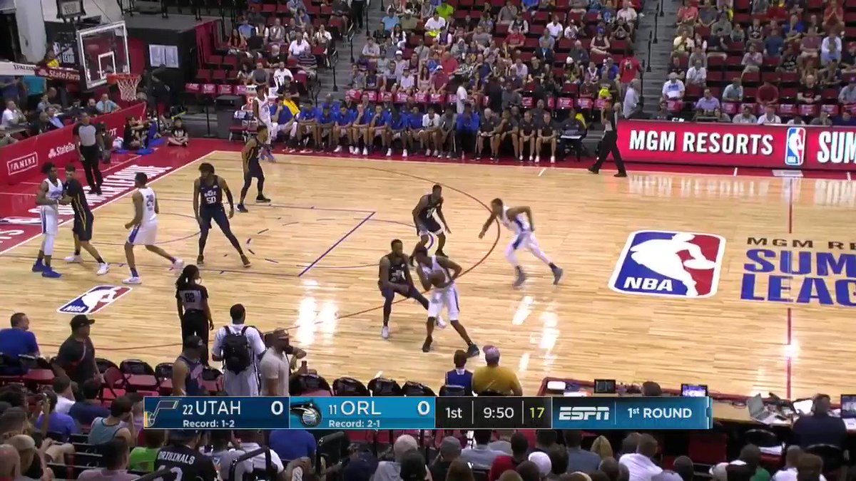 Wes Iwundu opens up the action for the @OrlandoMagic on @NBATV!  #NBASummer https://t.co/wpJwedK6Gq