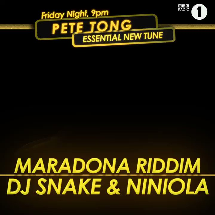 🚨#EssentialNewTune Alert🚨   It's the new one from @djsnake and @OfficialNiniola!  @PeteTong wants to know what you think of this!?