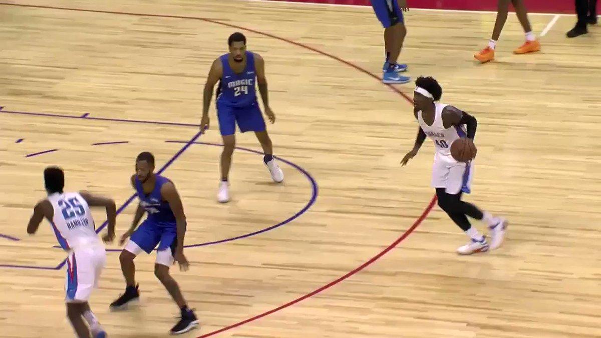 Rashawn to PJ for the throwdown! #NBASummer
