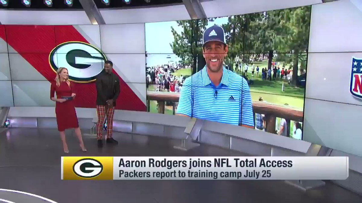"""""""Body language. Checks. Things you can't do with other people that we've done over the years."""" These are some of the things Aaron Rodgers will miss about playing with Jordy Nelson. (Though for a second here, we weren't sure he would. 😂) @89JonesNTAF"""