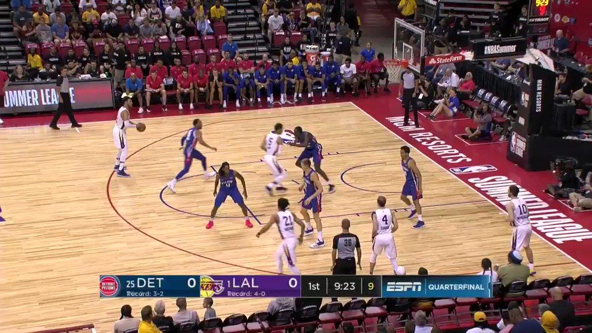 Josh Hart starts the scoring from 3⃣ #NBASummer https://t.co/cee7rH24xR