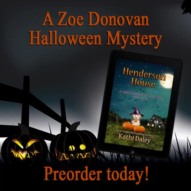NEW PREORDER Henderson House A Zak and Zoe Holiday #Mystery ** Publishes 8/28 amzn.to/2LBPoDC ** A barking dog, a dead monster hunter, and a mystery that will bring the theme of #Halloween home for Zoe and clan. ** #Kindleunlimited