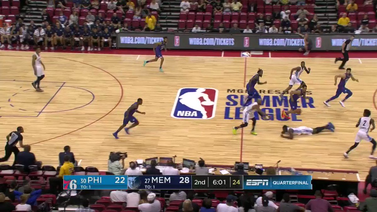 What's better than one player blocking a shot? Two! ��  #NBASummer https://t.co/pgSzS1itzQ