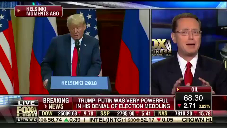 Neil Cavuto of Fox Business calls Trumps press conference disgusting, That sets us back a lot.