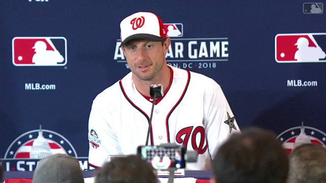 Max Scherzer on getting to start the 2018 #AllStarGame in front of his hometown crowd at #Nats Park: https://t.co/95hzAYbEyB