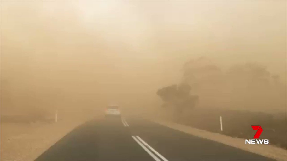 Image for the Tweet beginning: Dust has covered the roads