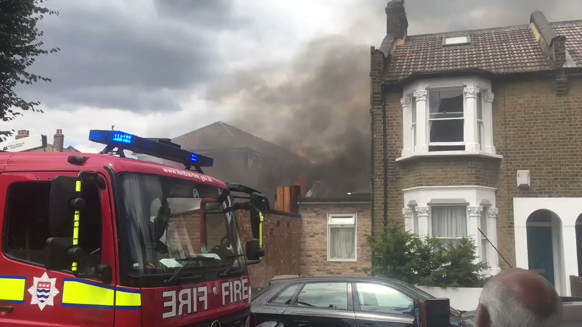 London Fire Brigade are tackling a fire on Woodlands Road, Walthamstow.