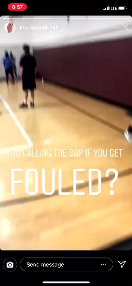 "😂 ""You calling the cops if you get fouled?"" (Via @liberiansoul)"