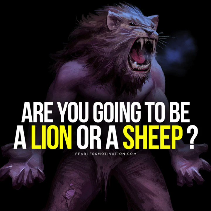 Are you going to be a LION or a SHEEP? buff.ly/2KYsgU4