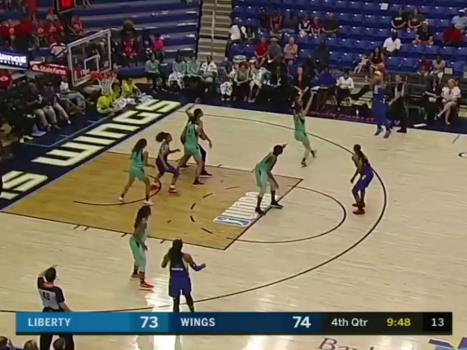 Liz Cambage had 33 points after 3 quarters … then dropped 20 in the 4th to grab that single-game scoring record �� https://t.co/N5pmFLAQAO