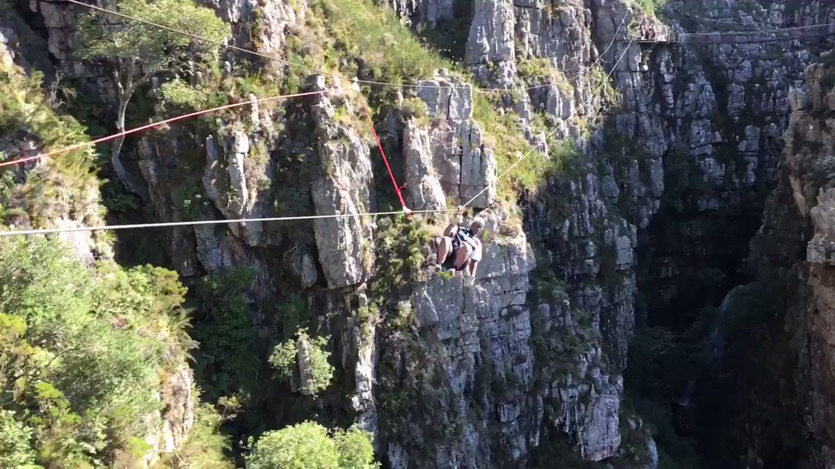 What a day for adrenalin junkies @CanopyTourSA 2,500 metres of lines with max height of 115 metres https://t.co/gMhIPMTWzx