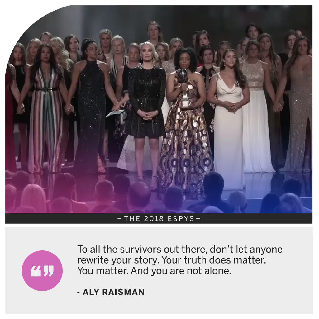 .@Aly_Raisman's message to survivors everywhere.