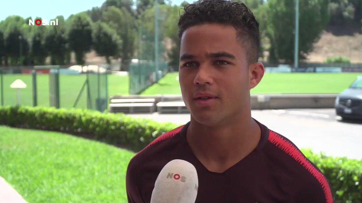 Interview: Justin Kluivert officieel gepresenteerd bij AS Roma
