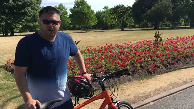 Having pledged to do so ahead of #CleanAirDay, Cllr @WaseemZaffar has been learning to ride a bike with #BigBirminghamBikes so that he can cycle to ward meetings instead of driving, helping to improve #airquality in #Brum. If he can do it, so can you. #Brumbreathes